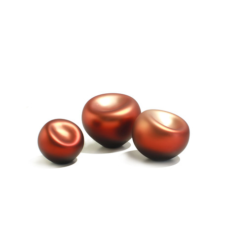 "Soft Round Pearl // Ruby Pearl Finish (4""L x 4""W)"