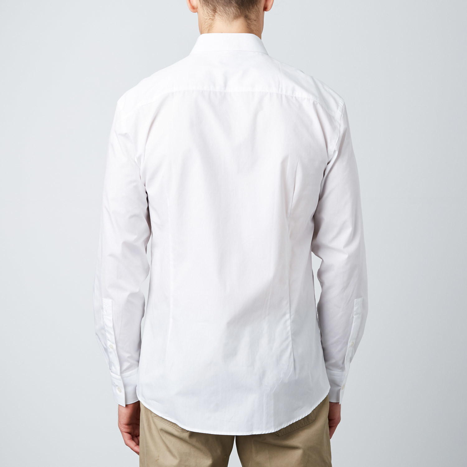 Classic trend fit dress shirt white versace for Classic white dress shirt
