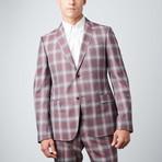 Monaco Plaid Suit // Dark Red (Euro: 50)