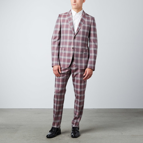 Monaco Plaid Suit // Dark Red (Euro: 50)