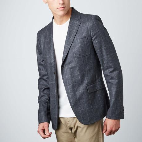 Window Pane Soft Jacket // Charcoal (Euro: 48)
