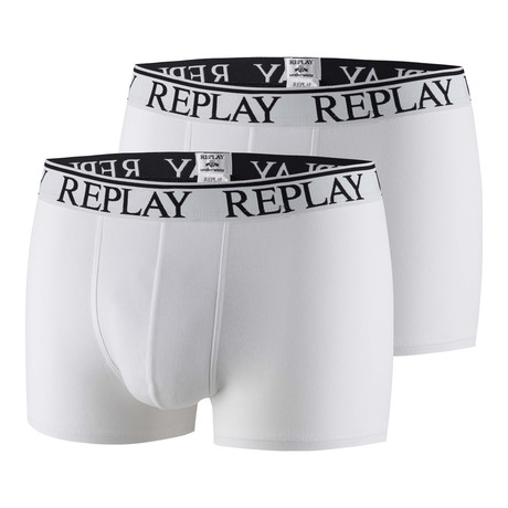 Fly-Less Boxer Brief // White // 2-Pack