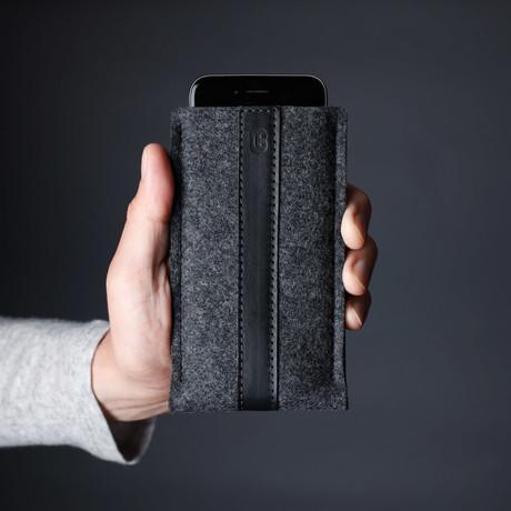 Classic iPhone Sleeve // Grey + Black