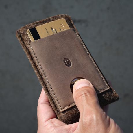 Card Wallet Sleeve // Deep Caramel