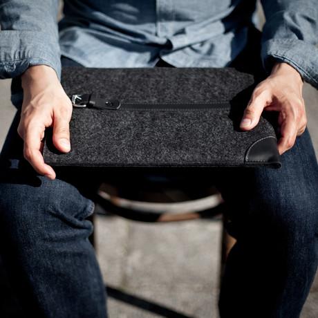 MacBook Sleeve // Grey + Black