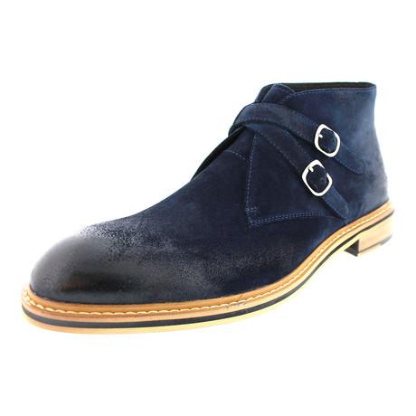 Philly Cross Strap Chukka Boot // Navy