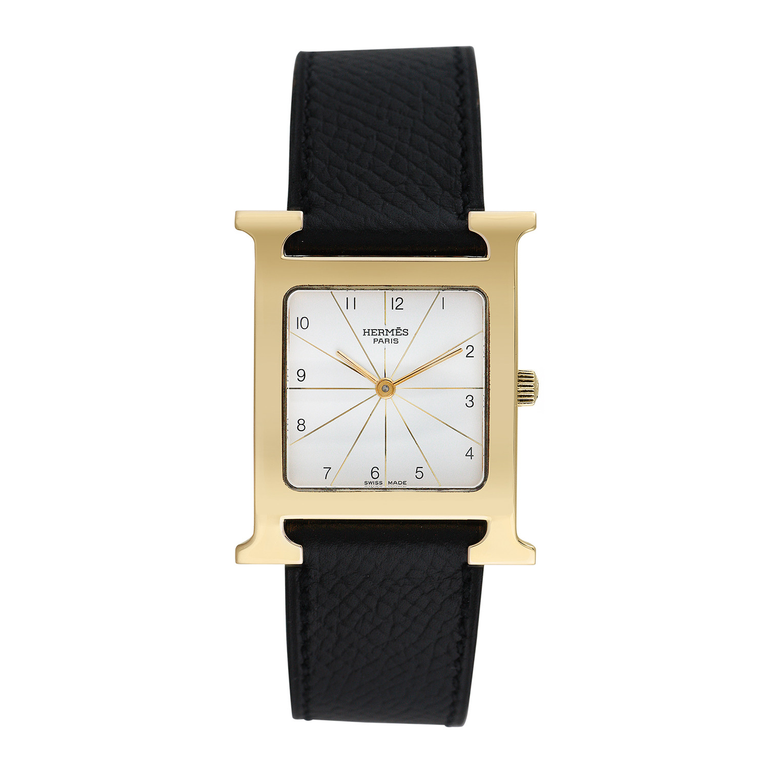 Hermes h watch quartz pre owned pre owned timepieces touch of modern for Celebrity quartz watch