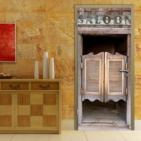 Thrilling Saloon Door Mural