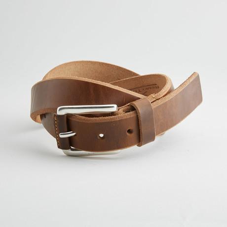 Coraggio Leather Belt // Golden Brown
