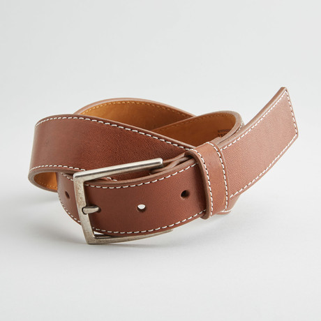 Enzo Leather Belt // Tan