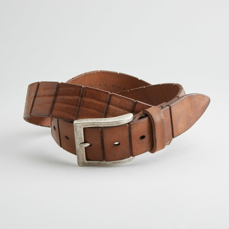 Tombstone Leather Belt // Tan