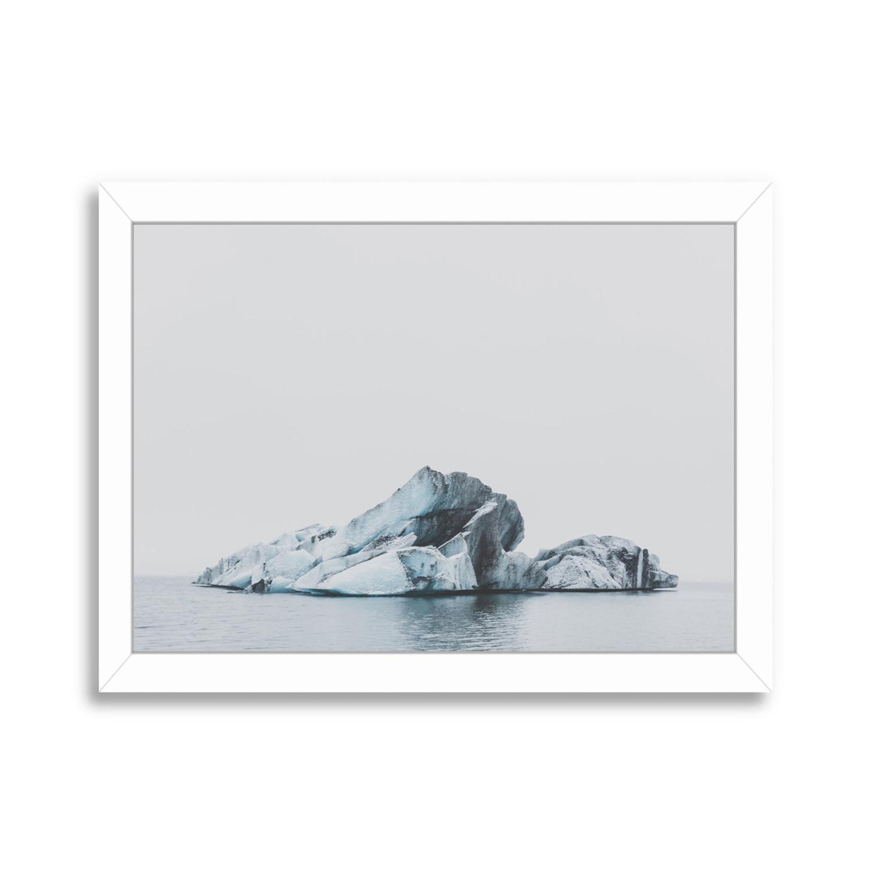 jokulsarlon iceland poster print white frame 25quotw x