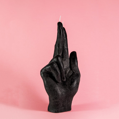 Gun Fingers Candle (Black)