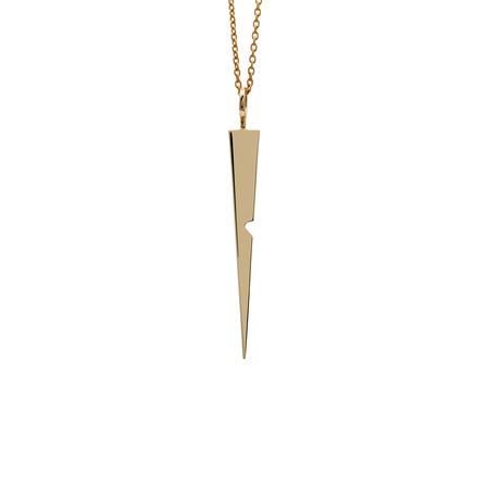 Notch Spike Pendant // Gold