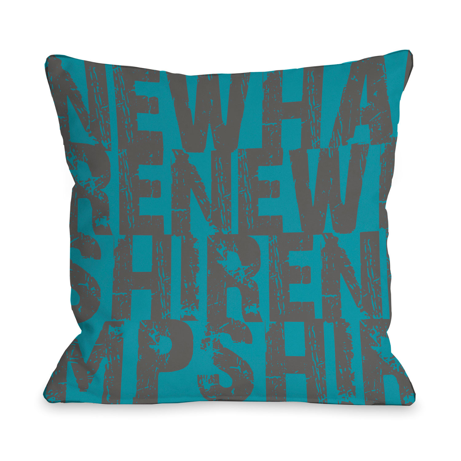 New Hampshire State Type Pillow One Bella Casa