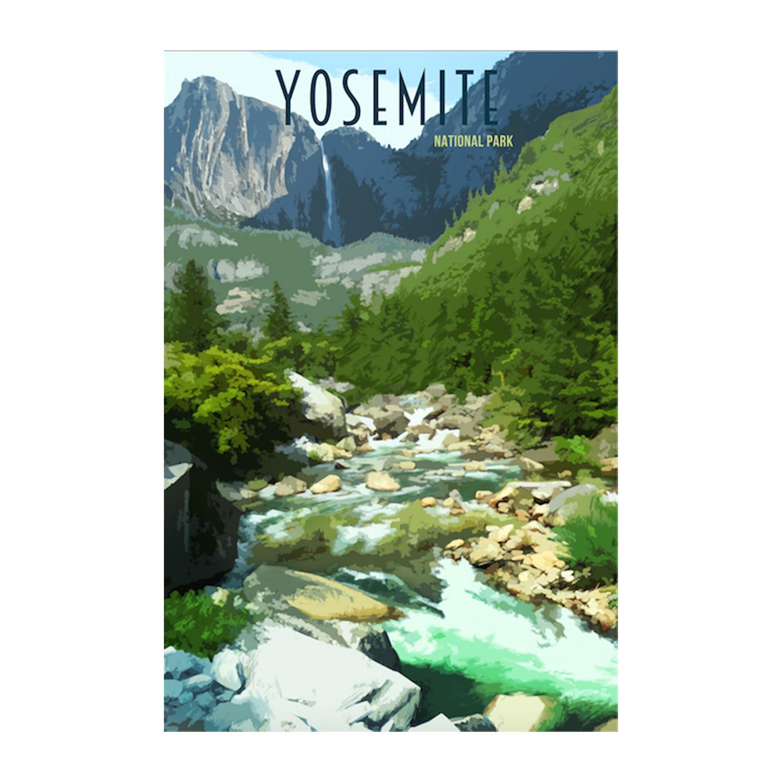 National Park Posters Yosemite National Park Poster