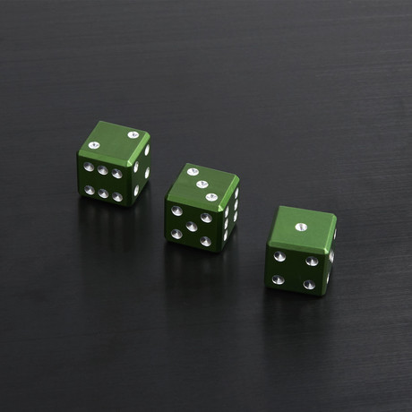 Bullet Case + Green Dice