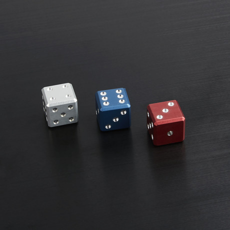 Bullet Case + Red White Blue Dice