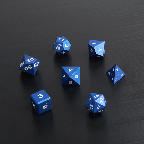 Metal Polyhedral Set // Blue