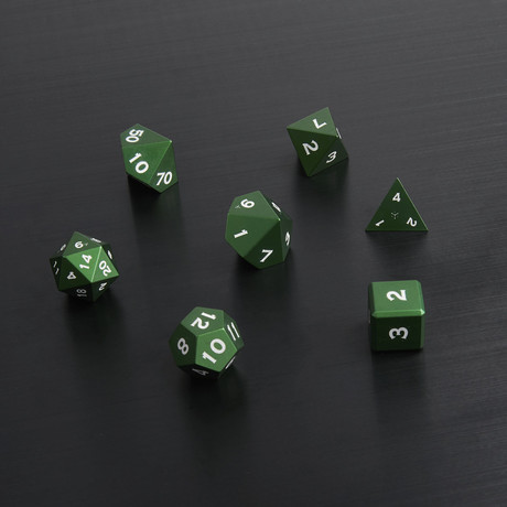 Metal Polyhedral Set // Green