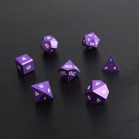 Metal Polyhedral Set // Purple