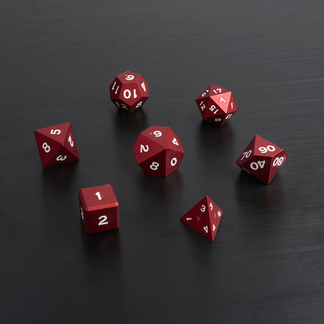 Metal Polyhedral Set // Red