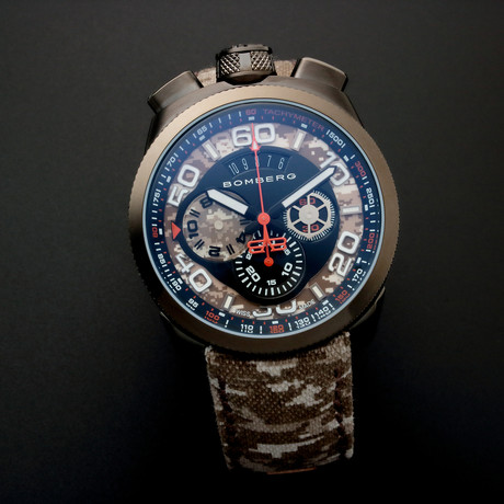 Bomberg Bolt Chronograph Quartz // Limited Edition // BS45CHPGM.018.3 // Unworn