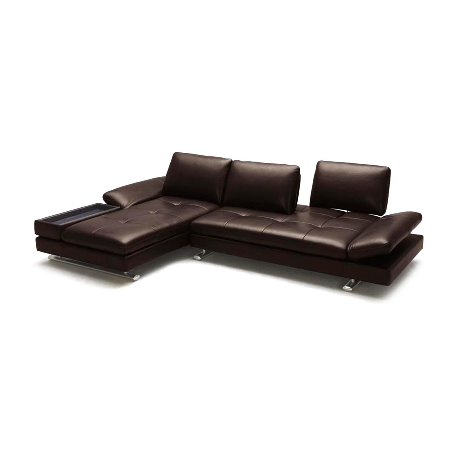 Ritz sectional sofa left chaise zuri furniture for Sofa chaise 1 lugar
