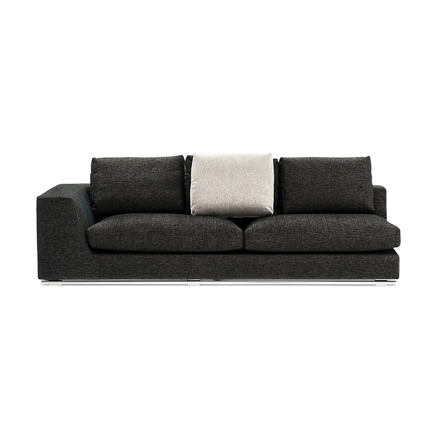 Comodo sectional sofa left chaise ottoman zuri for Sofas pequenos y comodos