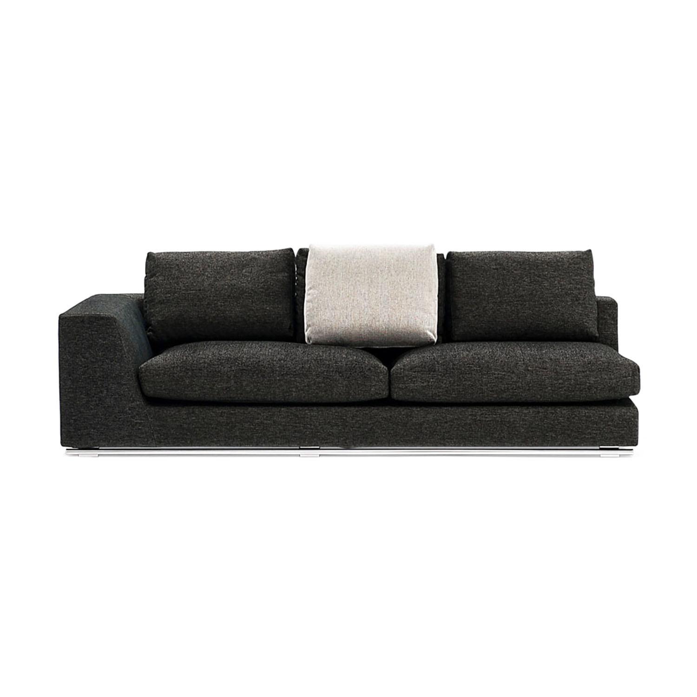 Comodo sectional sofa left chaise ottoman zuri for Sofas pequenos y comodos