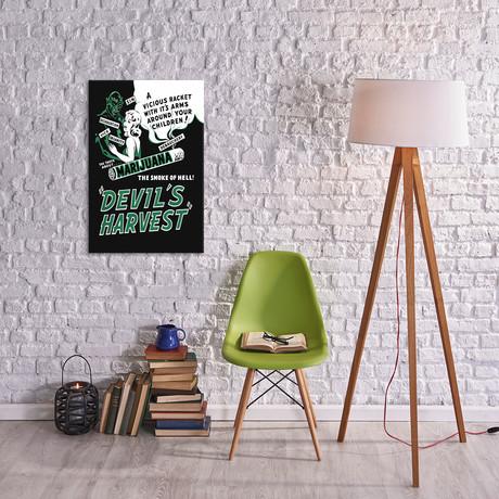 Marijuana, Devils Harvest //  Vintage Movie Poster