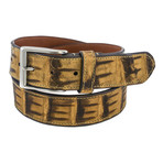 "Genuine Crocodile Tail Belt // Olive (34"" Waist)"