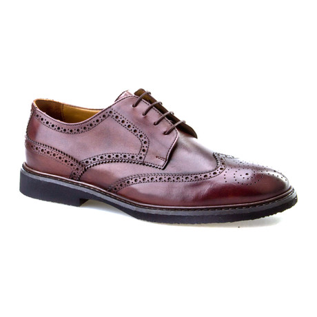 Arslan Grainy Wingtip Oxford // Brown