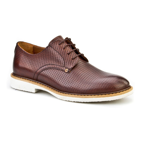 Cem Textured Oxford // Brown