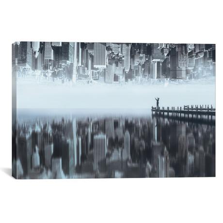"City Of Mirror (26""W x 18""H x 0.75""D)"