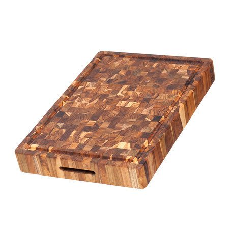 Butcher Block Collection // Rectangle + Grips + Canal (Small)
