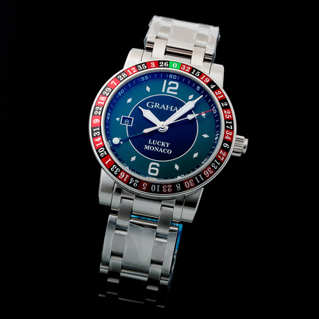 Graham Silverstone Lucky Time Zone Automatic // 2TZAS.BO8A // Unworn