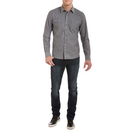 Cash Stitched Snap Shirt // Mineral Blue