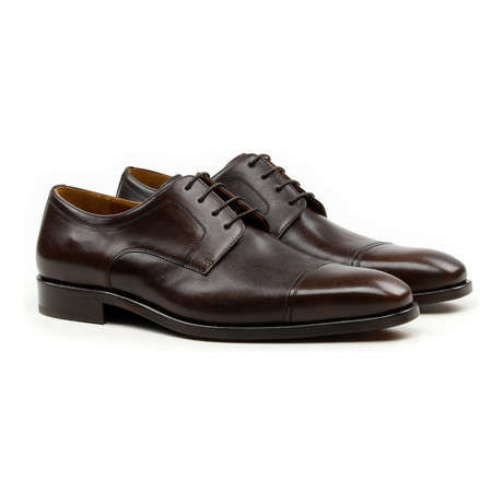 Aimar Plain Toe Cap Oxford // Brown