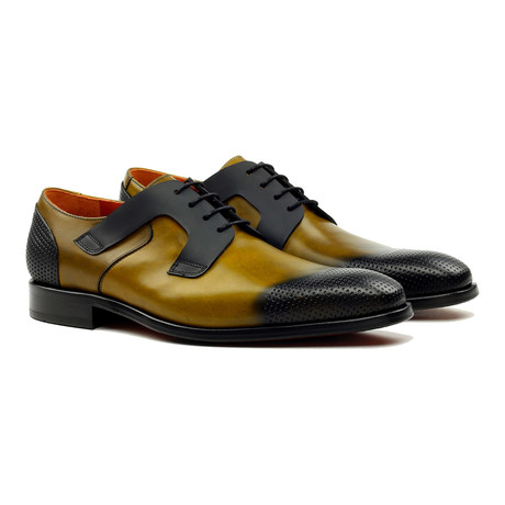Primo Perforated Oxford // Mustard