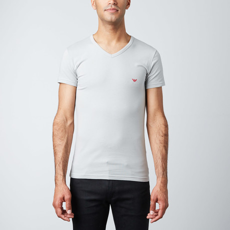 V-Neck Stretch Tee // Ice