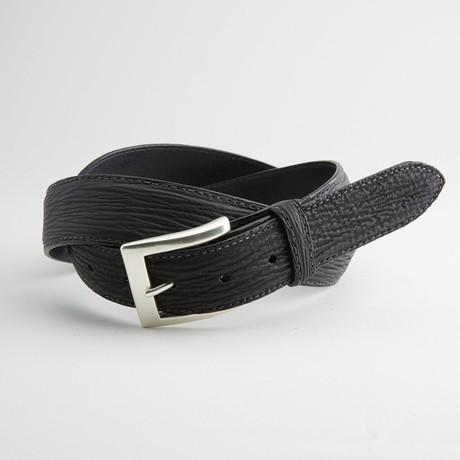 Shark Leather Belt // Black (32)