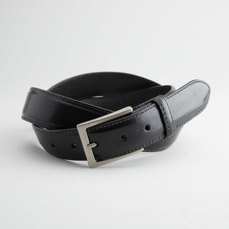 Italian Calf Leather Belt // Black (32)