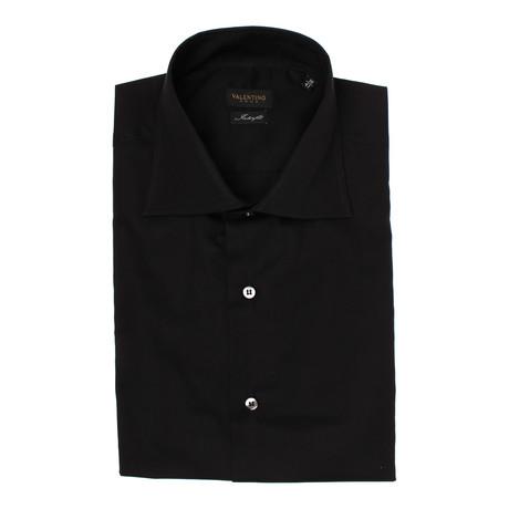 Solid Interfit Dress Shirt // Black