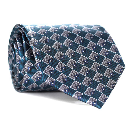 Triangle Pattern Tie // Teal