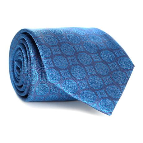 Paisley Tile Pattern Tie // Blue