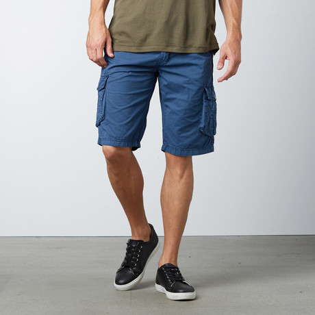 Cropped Cargo Shorts // Majolica Blue