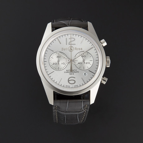 Bell & Ross Vintage Officer Automatic // BRG126-WH-ST/SCR // Store Display