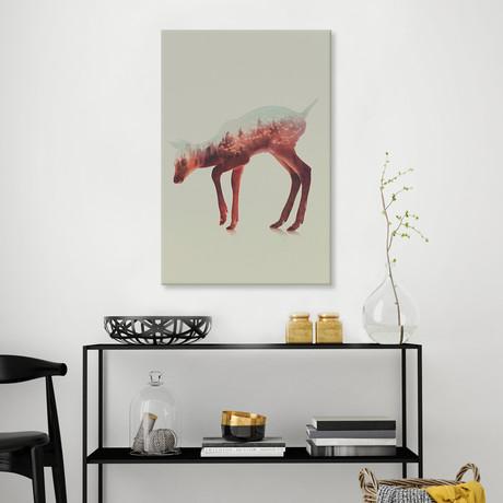 """Deer III (26""""W x 18""""H x 0.75""""D)"""