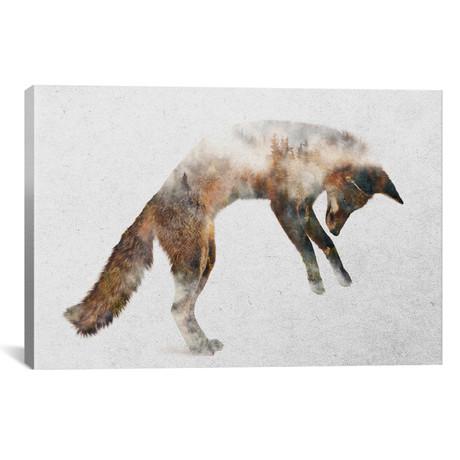 """Jumping Fox (26""""W x 18""""H x 0.75""""D)"""